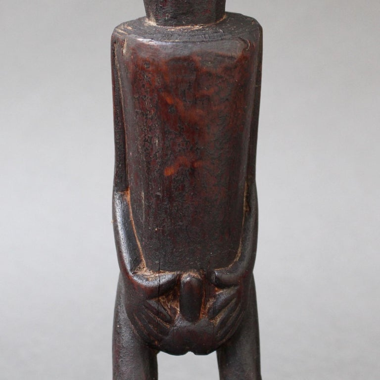 Wooden Sculpture or Carving of Fertility Figure from Sumba Island, Indonesia For Sale 4