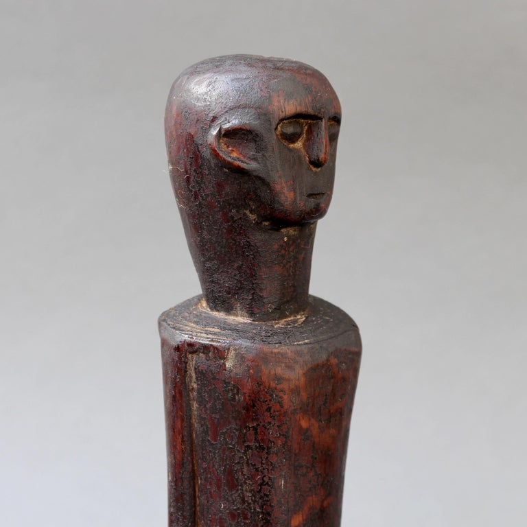 Wooden Sculpture or Carving of Fertility Figure from Sumba Island, Indonesia For Sale 5