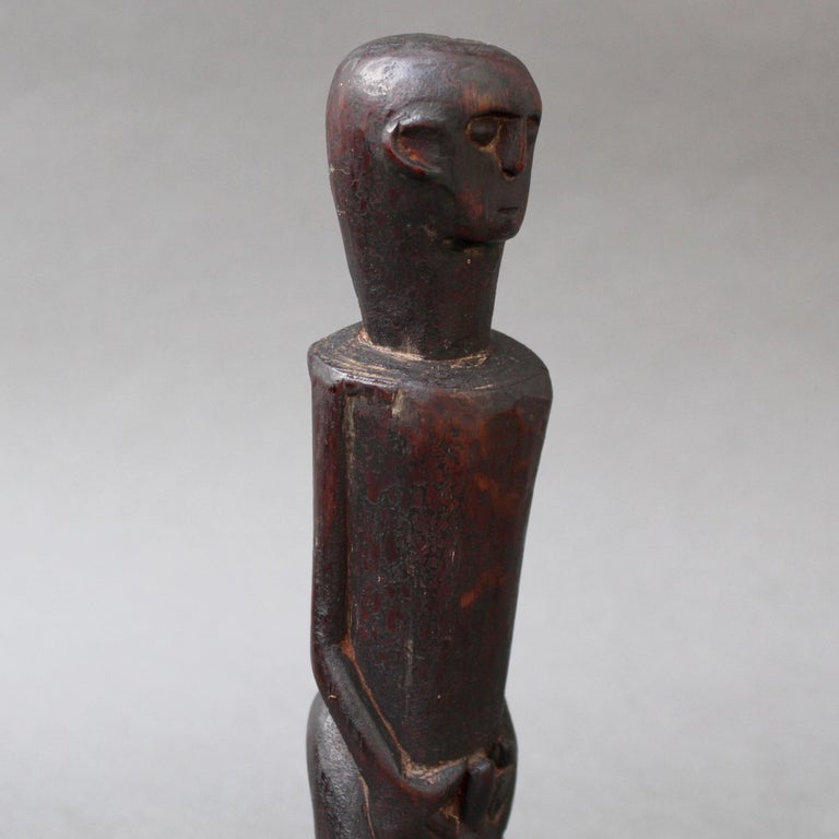 Wooden Sculpture or Carving of Fertility Figure from Sumba Island, Indonesia For Sale 6
