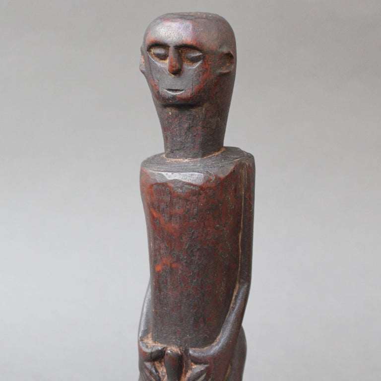 Wooden Sculpture or Carving of Fertility Figure from Sumba Island, Indonesia For Sale 7