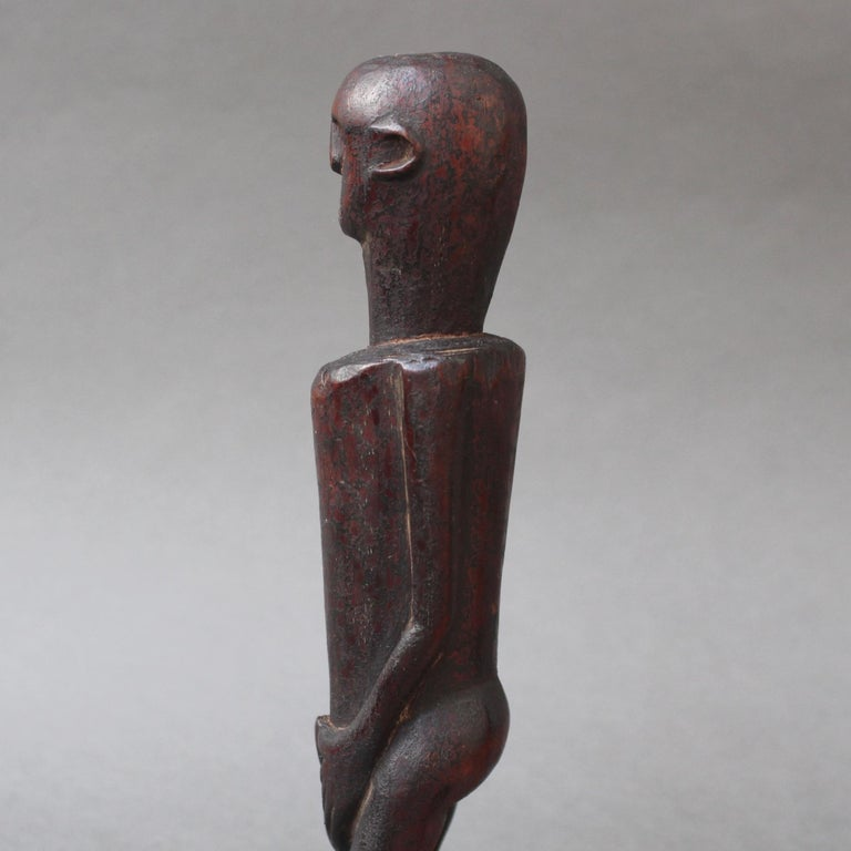 Wooden Sculpture or Carving of Fertility Figure from Sumba Island, Indonesia For Sale 8