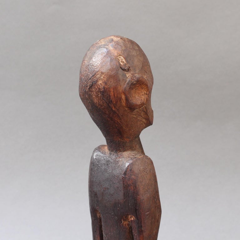 Wooden Sculpture or Carving of Sitting Figure from Sumba Island, Indonesia For Sale 4
