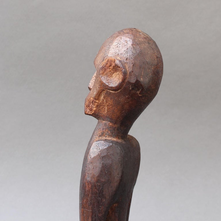 Wooden Sculpture or Carving of Sitting Figure from Sumba Island, Indonesia For Sale 6