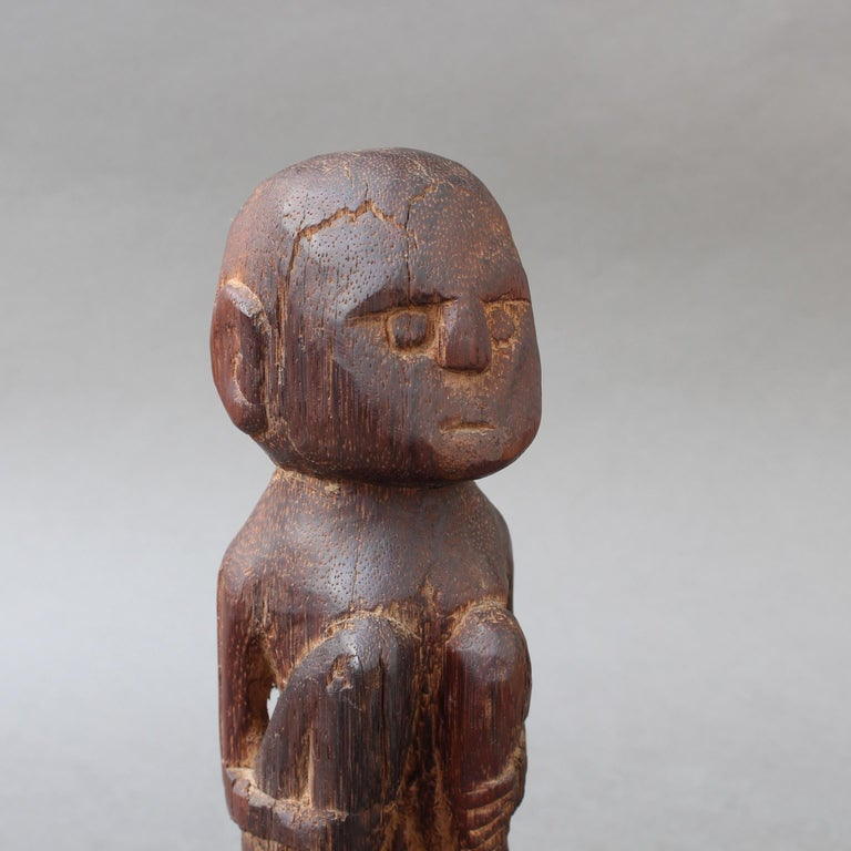 Wooden Sculpture or Carving of Sitting Figure from Sumba Island, Indonesia For Sale 7