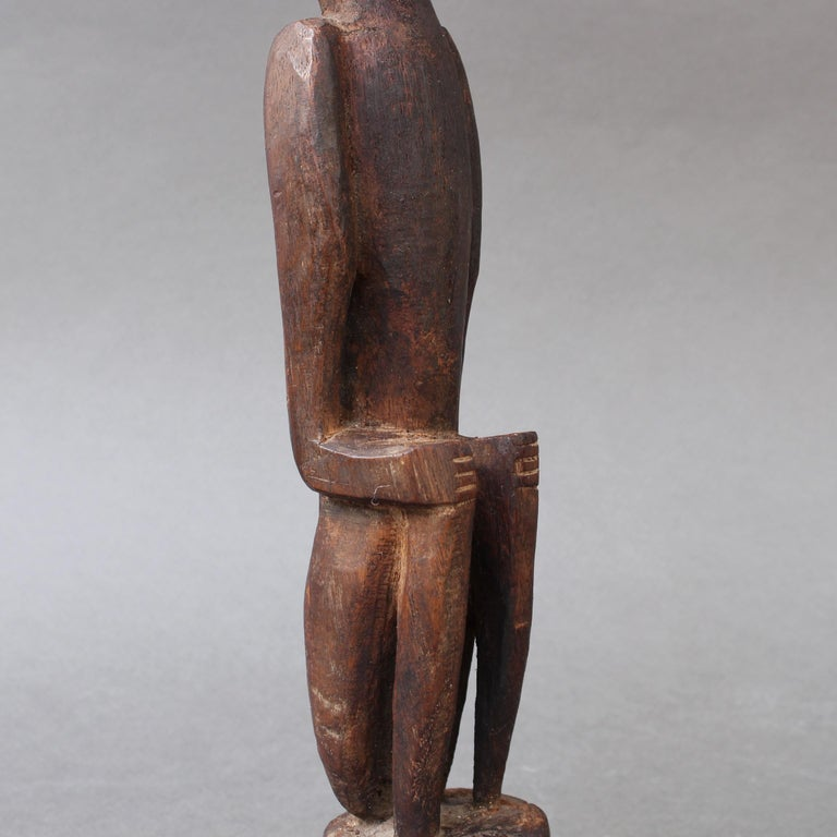 Wooden Sculpture or Carving of Sitting Figure from Sumba Island, Indonesia For Sale 9