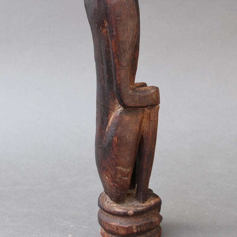 Wooden Sculpture or Carving of Sitting Figure from Sumba Island, Indonesia For Sale 10
