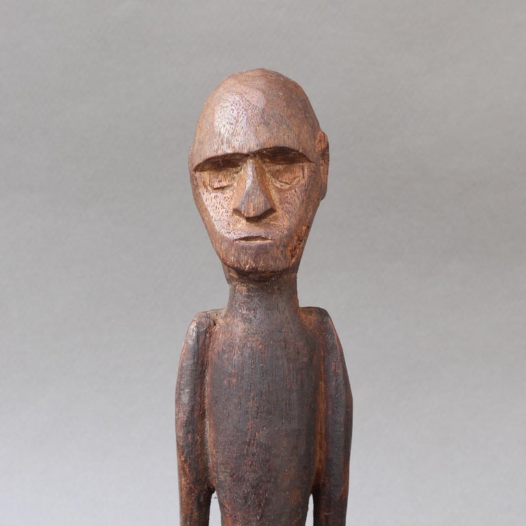 Wooden Sculpture or Carving of Sitting Figure from Sumba Island, Indonesia For Sale 1