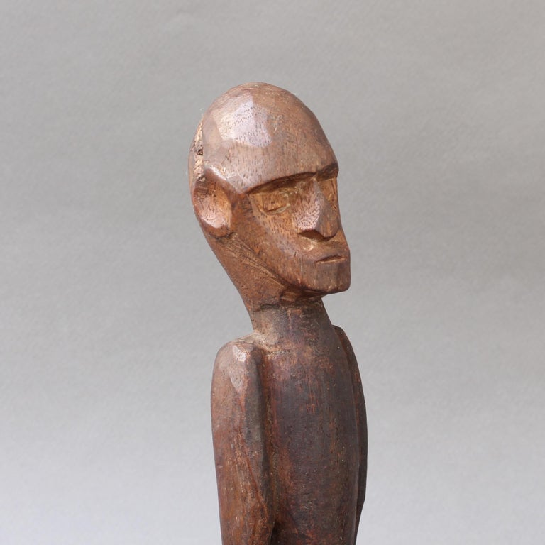 Wooden Sculpture or Carving of Sitting Figure from Sumba Island, Indonesia For Sale 2