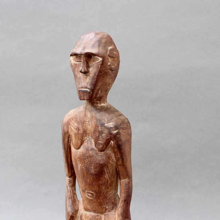Wooden Sculpture or Carving of Standing Figure from Sumba Island, Indonesia For Sale 4