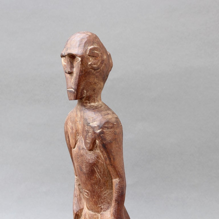 Wooden Sculpture or Carving of Standing Figure from Sumba Island, Indonesia For Sale 5