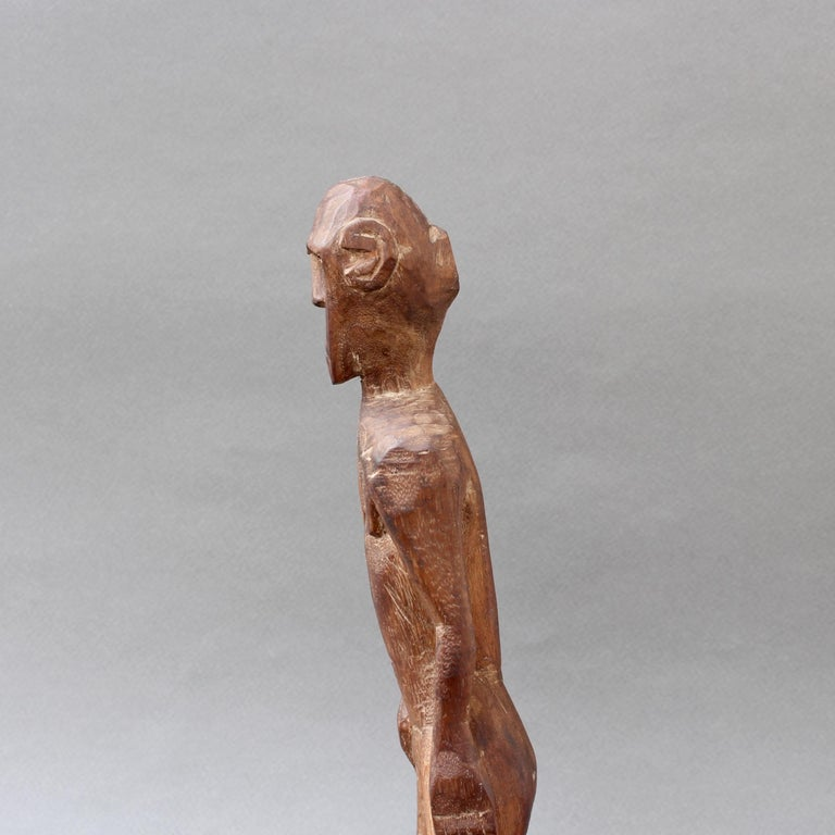 Wooden Sculpture or Carving of Standing Figure from Sumba Island, Indonesia For Sale 6
