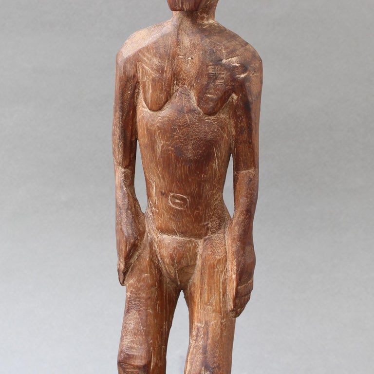 Wooden Sculpture or Carving of Standing Figure from Sumba Island, Indonesia For Sale 8