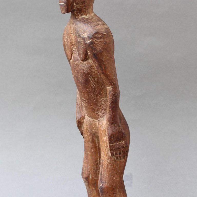 Wooden Sculpture or Carving of Standing Figure from Sumba Island, Indonesia For Sale 9
