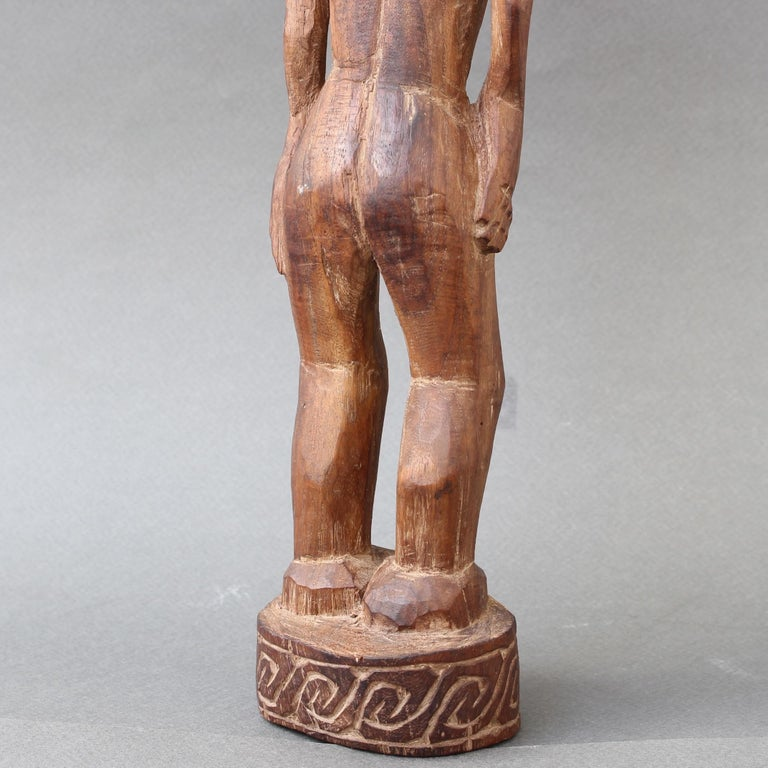 Wooden Sculpture or Carving of Standing Figure from Sumba Island, Indonesia For Sale 11