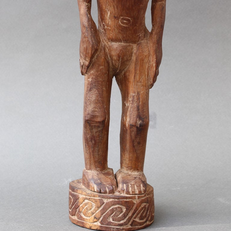 Wooden Sculpture or Carving of Standing Figure from Sumba Island, Indonesia For Sale 12