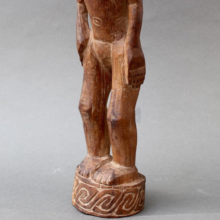 Wooden Sculpture or Carving of Standing Figure from Sumba Island, Indonesia For Sale 13