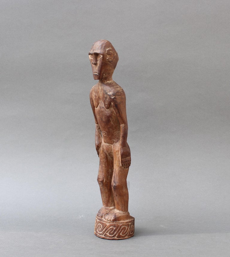 Indonesian Wooden Sculpture or Carving of Standing Figure from Sumba Island, Indonesia For Sale