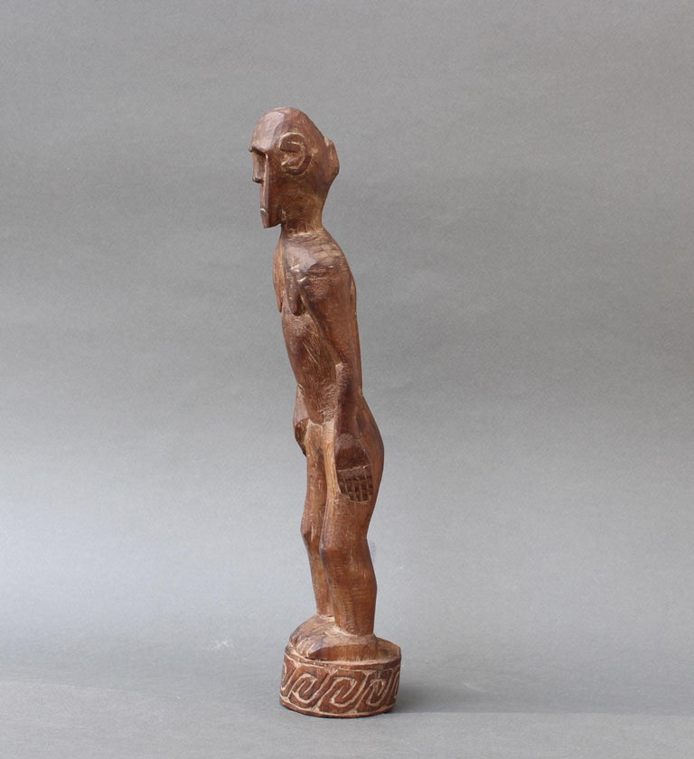 Hand-Carved Wooden Sculpture or Carving of Standing Figure from Sumba Island, Indonesia For Sale
