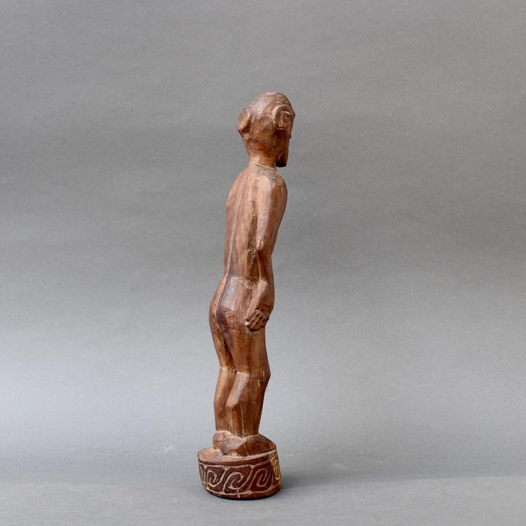 20th Century Wooden Sculpture or Carving of Standing Figure from Sumba Island, Indonesia For Sale