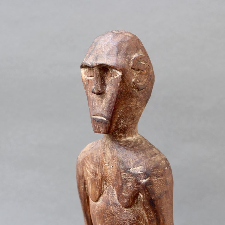 Wooden Sculpture or Carving of Standing Figure from Sumba Island, Indonesia For Sale 2