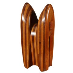 Abstract Wooden Sculpture by Cervino