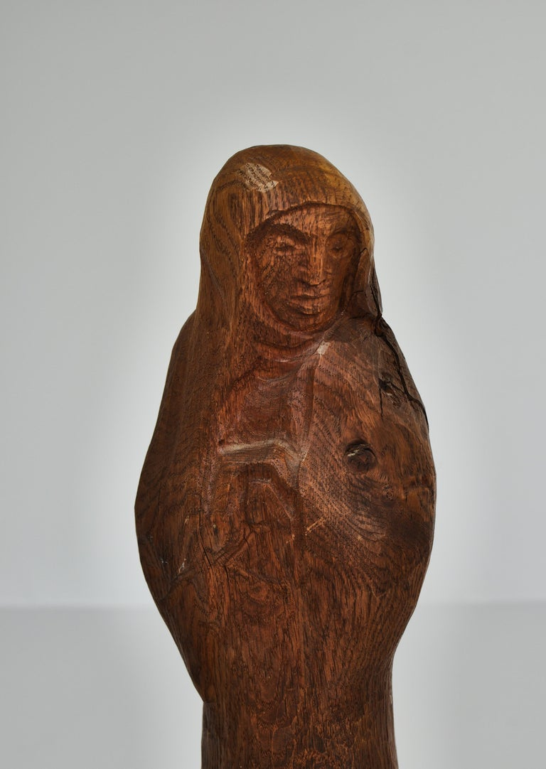 Expressionist Wooden Sculpture