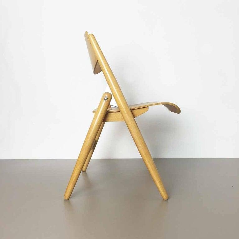 Wooden SE18 Children's Chair by Egon Eiermann for Wilde & Spieth, Germany 1950s In Good Condition For Sale In Kirchlengern, DE