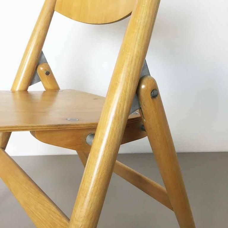 Wooden SE18 Children's Chair by Egon Eiermann for Wilde & Spieth, Germany 1950s For Sale 2
