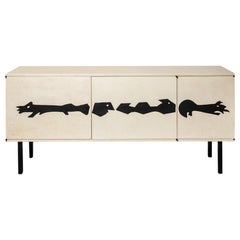 Wooden Sideboard by Jean Touret