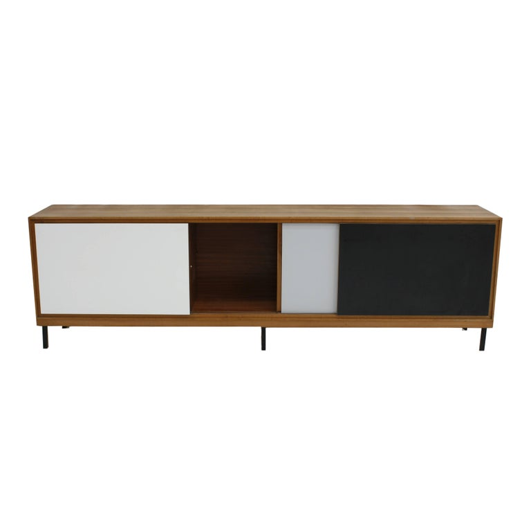 Mid-Century Modern Wooden Sideboard, France, 1950s For Sale