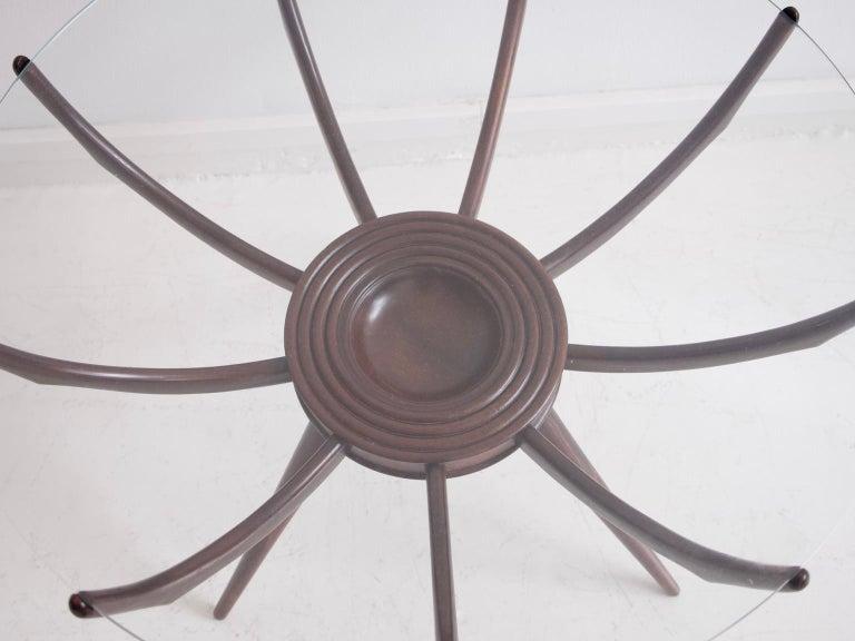 Italian Wooden Spider Leg Coffee Table by Carlo De Carli For Sale