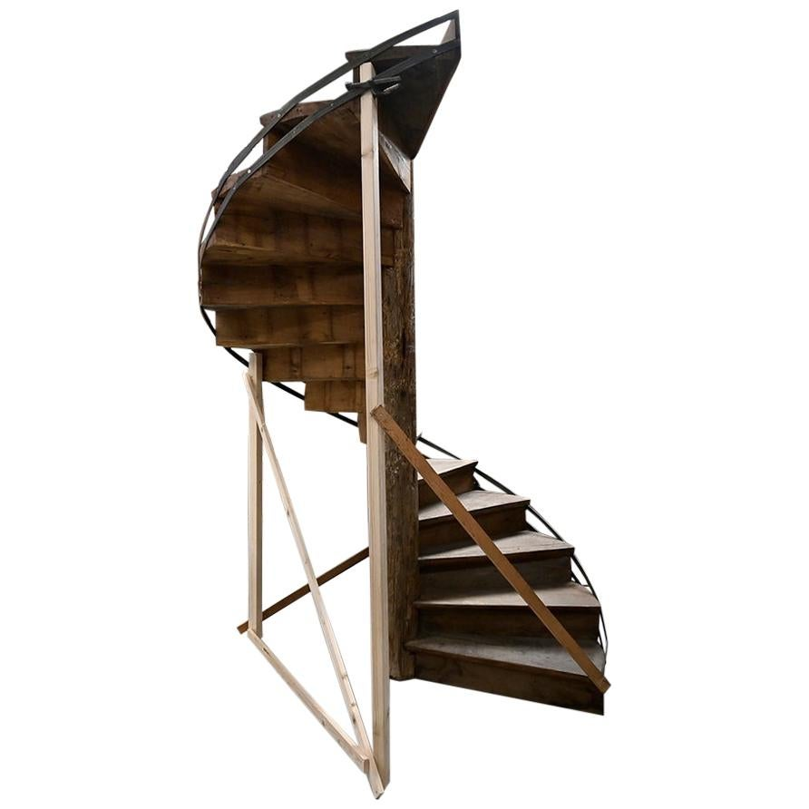 Wooden Spiral Staircase, 19th Century