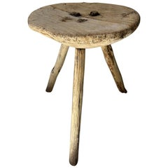 Wooden Stool from Mexico, circa Early 1970s
