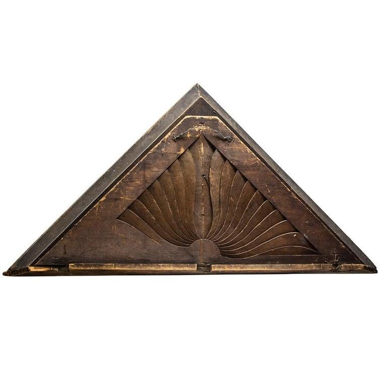 Late Victorian Wooden Sunburst Pediment For Sale