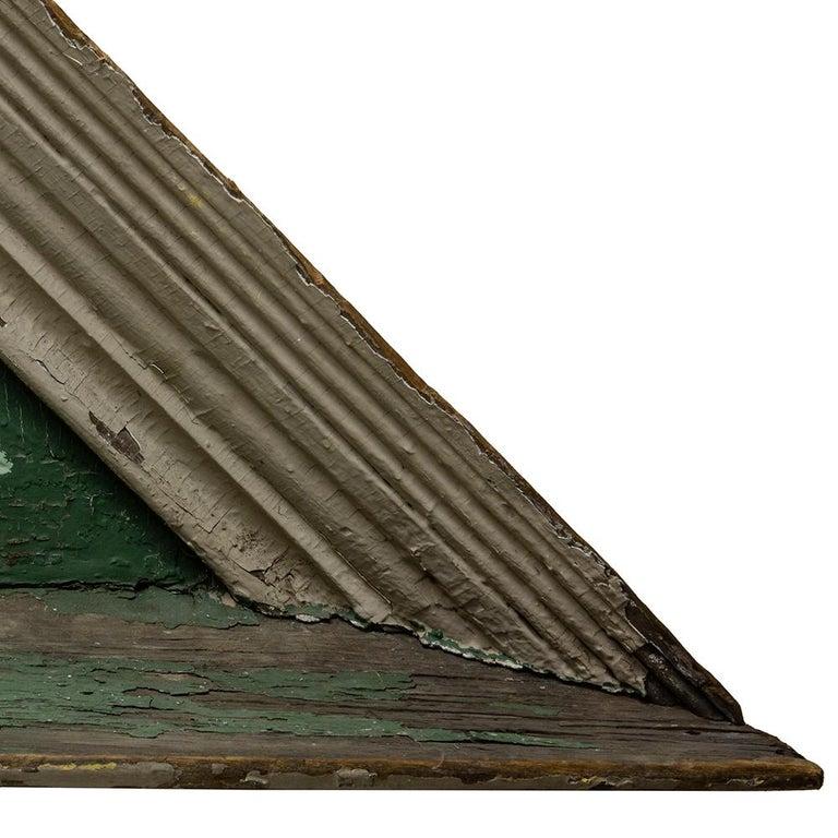 19th Century Wooden Sunburst Pediment For Sale