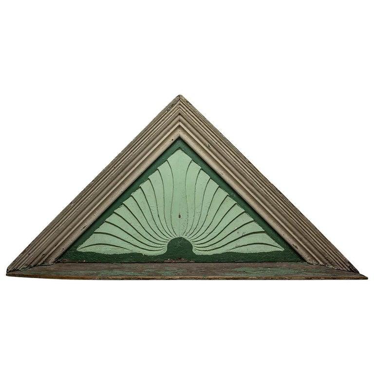 Wooden Sunburst Pediment For Sale