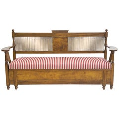 Wooden Swedish Sofa Designed by Carl Westman