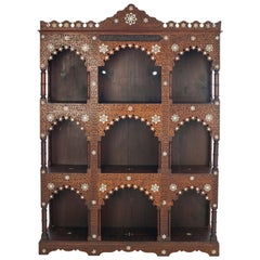 Wooden Syrian Wall Unit with Mother of Pearl Inlay