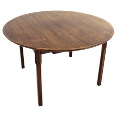 Wooden Table with Round Extendable Top, 1960s