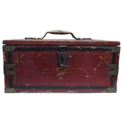 Wooden Tool Box Hand Painted