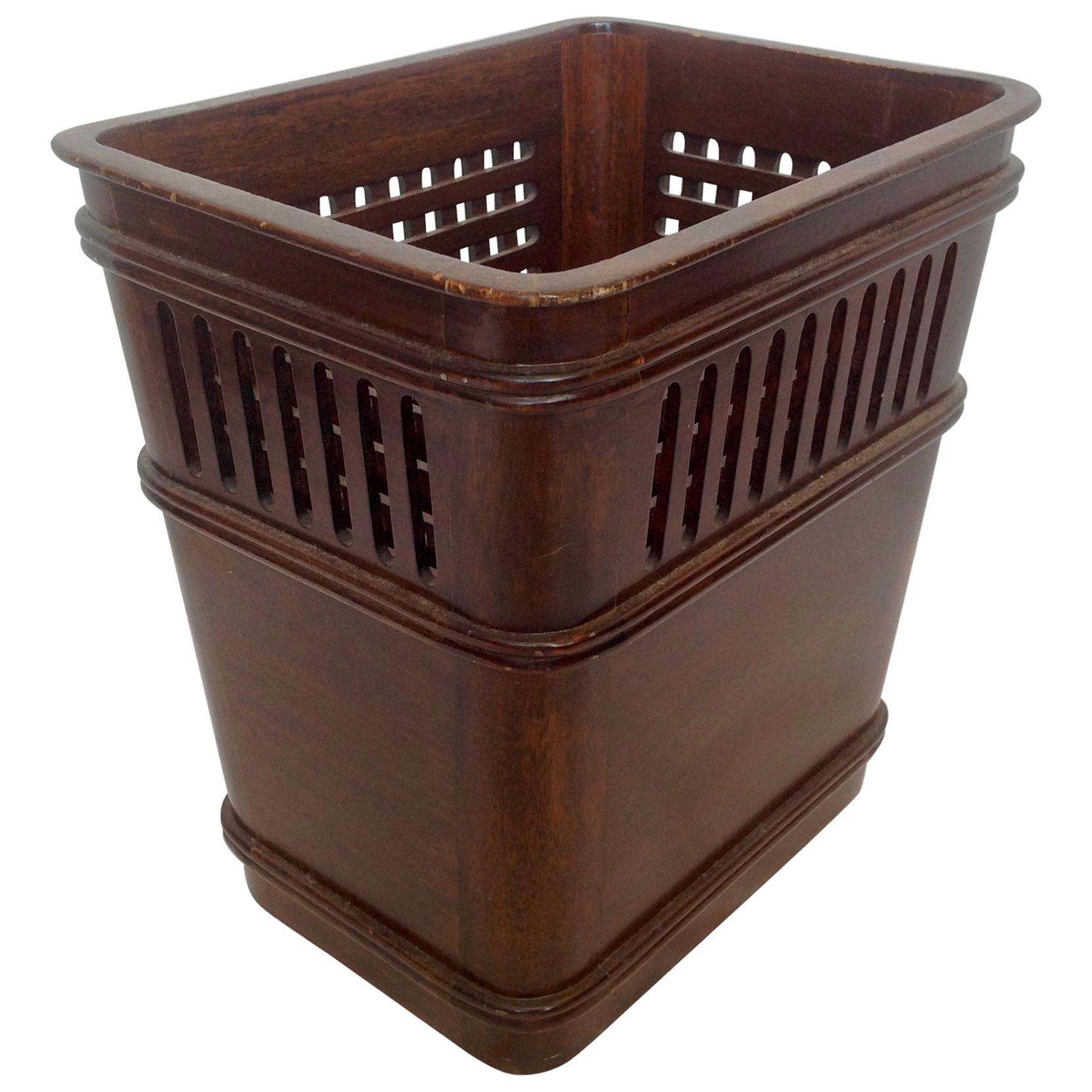 Wooden Waste Paper Basket
