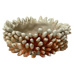 Wood-Fired Porcelain Rasmus Bump Accent Bowl Organic Modern