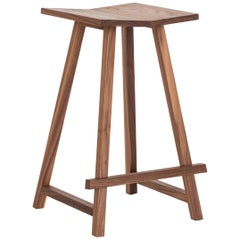 Woodford Bar Stool in American Walnut by Mr and Mrs White