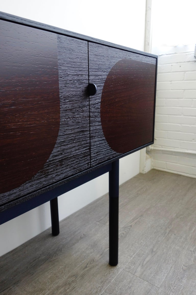 Modern Woodsport Handcrafted Wenge and Oak Sideboard For Sale