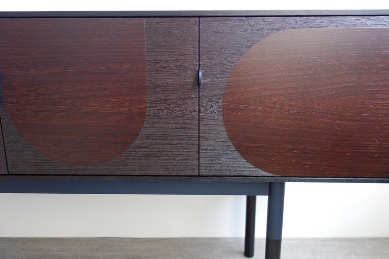 American Woodsport Handcrafted Wenge and Oak Sideboard For Sale