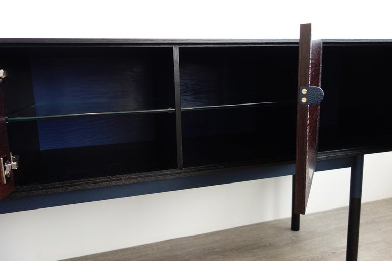 Welded Woodsport Handcrafted Wenge and Oak Sideboard For Sale