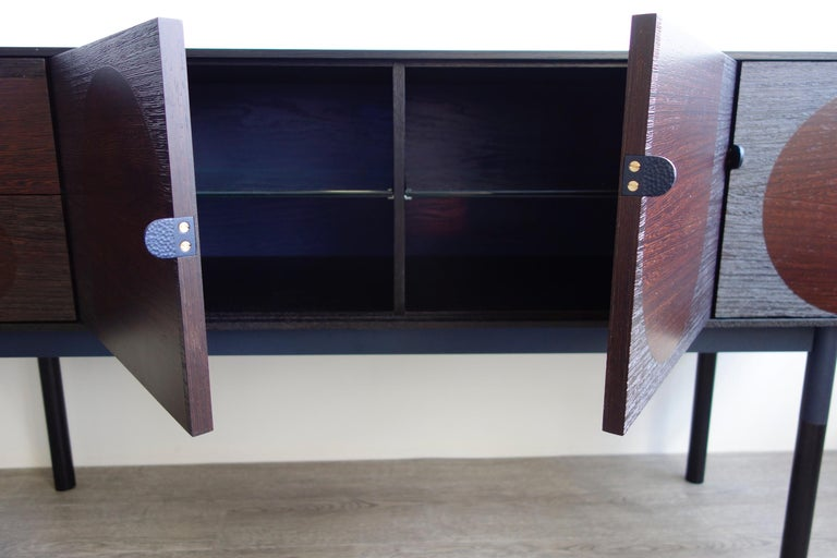Contemporary Woodsport Handcrafted Wenge and Oak Sideboard For Sale