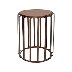 Woodway Side Table in Antique Copper by CuratedKravet