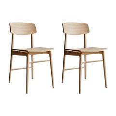 Molteni&C Woody Chair Set of 2 Francesco Meda Design Natural Wood