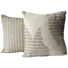 Wool and Silk Handwoven Pillows